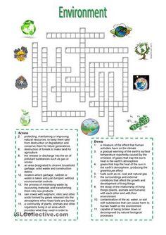 Environment - crossword puzzle