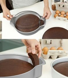 Nibble - cake testing baking pan -- so clever! You too can eat the most over cooked part of the cake you just cooked. Cupcakes, Cupcake Cakes, Baking Tools, Baking Pans, Baking Gadgets, Gadgets And Gizmos, Electronics Gadgets, Spy Gadgets, Unique Gadgets