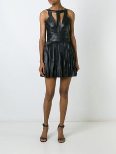 Be sexy for the evening parties Black leather bondage style mini dress from Designer Party Dresses, Evening Party, Dsquared2, Dress Up, Black Leather, Parties, Mini, Sexy, Shopping