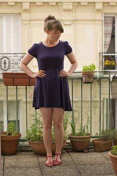 #58 Rue de la Villette, Paris: 9 mai Dresser, 9 Mai, Mint Green Dress, Red T, T Strap Sandals, Paris, Primark, Rue, Thrifting
