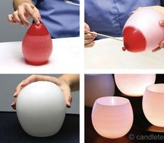 such a cool idea... battery powered tealights would be perfect - DIY Idea: Balloon Lumieres The Wedding Belles