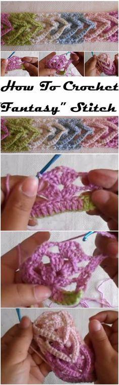 "Learn To Crochet ""Fantasy"" Stitch"