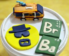 My own tribute to a great TV series: Breaking Bad cupcake toppers!