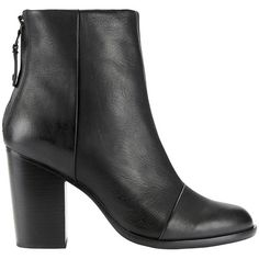 Rag & Bone Women's Ashby Bootie (730 NZD) ❤ liked on Polyvore featuring shoes, boots, ankle booties, black, black high heel boots, short black boots, black boots, ankle boots and short boots