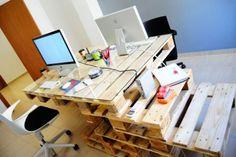 Pracovní stůl z dřevěných palet