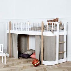 Forhæng til Wood halvhøj seng
