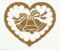 finished completed cross stitch WEDDING BELLS gold 50th anniversary PREORDER