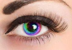 Rainbow Eye Contacts. And they actually look real unlike most colored contacts!