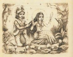 Radharani dressing to please Krishna!
