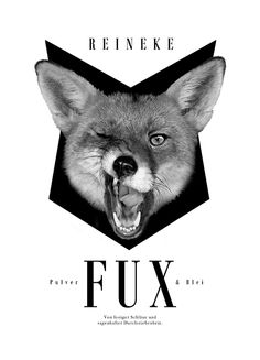 Fox Shirt Artwork in black and white for the Pulver & Blei Collection. http://www.citycollection.de