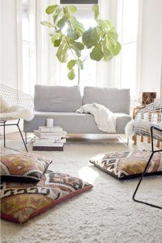 Kilim floor pillows
