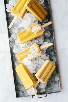 Dairy-Free Golden Fudgesicles | Brewing Happiness