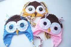 Owl Baby Hat by Aalexi on Etsy, $14.00