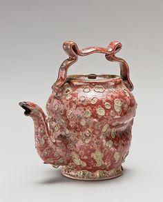 "George E. Ohr (American, Biloxi, Mississippi 1857–1918 Biloxi, Mississippi), Teapot, Made in 1897-1900.    Movement - Expressionism     (""George E. Ohr   Teapot   American   The Met"")"
