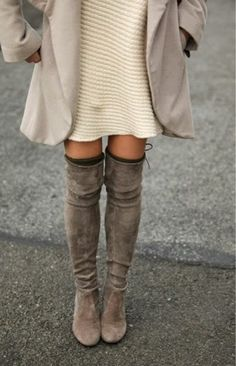Bellezza pour femme di Marzia Amaranto   Fashion And Beauty Blogger: 6 IDEAS OUTFIT - HOW TO WEAR OVER THE KNEE BOOTS