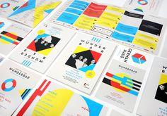 "Bauhaus-inspired corporate design for the ""German House"" on the SXSW Festival 2014 Corporate Design, Brand Identity Design, Graphic Design Branding, Logo Design, Design Design, Menu Design, Design Color, Typography Design, Bauhaus"