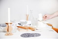 Tablesetting for Christmas with a touch of Scandinavian design! Head over to Roomed for more photos - Roomed