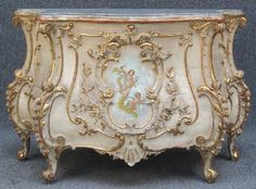 """a-l-ancien-regime: """" french louis xv style painted commode """" Rococo Furniture, Italian Furniture, Hand Painted Furniture, French Furniture, Luxury Furniture, Vintage Furniture, Furniture Styles, Furniture Decor, Furniture Design"""
