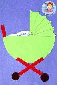 Kinderwagen van papier, thema baby voor kleuters, kleuteridee.nl, Kindergarten…