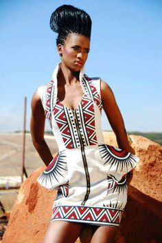 tribal #fashion. This reminds me of the color of native American dwellings.