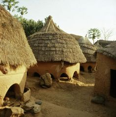 Africa | A Miango village near Jos, Nigeria. | ca. late 1950s - early 1960s. | ©Werner Forman Archive
