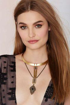 Biko Odyssey 18K Gold Collar Necklace