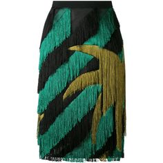 Marco De Vincenzo striped fringed straight skirt ($1,821) ❤ liked on Polyvore featuring skirts, bottoms, black, marco de vincenzo, fringe skirts, striped skirt, straight skirt and stripe skirts