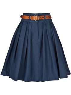 Shop Women's Preen Line Knee-length skirts on Lyst. Track over 53 Preen Line Knee-length skirts for stock and sale updates. Casual Skirt Outfits, Pretty Outfits, Work Outfits, Chic Outfits, Cute Skirts, A Line Skirts, Navy Pleated Skirt, Look Formal, Types Of Skirts