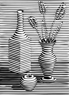 This is a really great example of line. With drawing straight lines it can make … This is a really great example of line. With drawing straight lines it can make a cool picture. Cool Art Drawings, Art Sketches, Line Drawing Art, Op Art, Arte Linear, Illusion Art, Middle School Art, Elements Of Art, Art Classroom