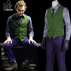 halloween costumes for men joker Jacket Batman The Dark Knight Joker Cosplay costume Carnival Cosplay fancy joker Costume Batman #Affiliate