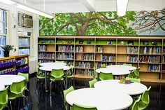 trees in the library