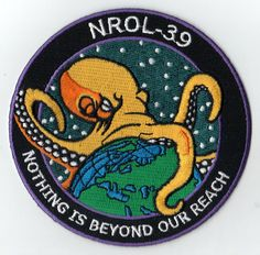 the logo for the latest spy rocket launched by the Office of National Intelligence and the National Reconnaissance Office. seriously.