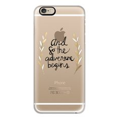 The Adventure Begins on Clear - iPhone 6s Case,iPhone 6 Case,iPhone 6s... ($40) ❤ liked on Polyvore featuring accessories, tech accessories, phones, electronics, iphone case, iphone cover case, iphone cases, clear iphone cases, slim iphone case and apple iphone cases