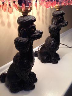 Vintage+Black+Poodle+Lamps++Poodle+Lamps+++Black+by+HappyPAWStoyou,+$110.00