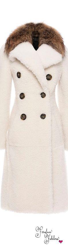 Frivolous Fabulous - Burberry Reverse Shearling Double Breasted Coat Pre Fall 2016