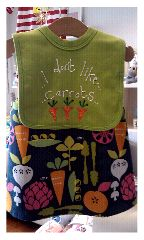 the perfect match , two things in my shop ,carry me home dress £38.00 carrots bib £8.95