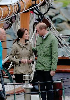 The Duke and Duchess of Cambridge arrive to board the tall ship, Pacific Grace, before sailing with members of the Sail and Life Training Society at Victoria Inner Harbour on the final day of their Royal Tour of Canada on October 1, 2016 in Victoria, Canada.