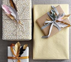 Add a personal touch to your holiday packages with these feather gift tags. In a hurry? Not so crafty? Our downloadable template makes it easy.