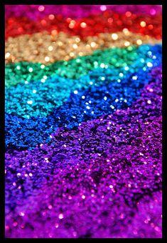 Rainbow Glitter iPhone wallpaper