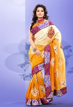 Embroidered Designer Silk Saree With Matching Blouse Shop any #Indian #Designer #Silk #Saree Get Free Shipping World-Wide. http://www.sareenet.com/sare-diff17891.html
