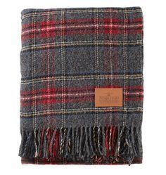 Pendleton Charcoal Stewart Plaid Blanket