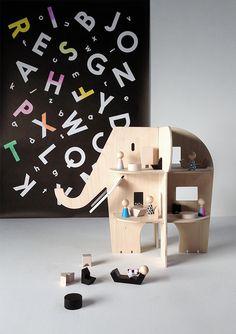 Ele Villa elephant dollhouse by Rock & Pebble