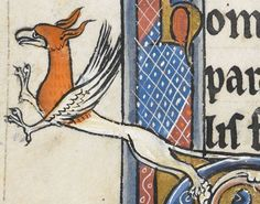 """Detail from """"The Rutland Psalter"""", medieval (c1260), British Library Add MS 62925. f 52v"""