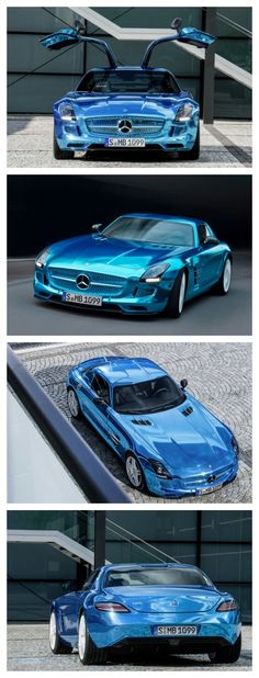 5 of the Best Electric Cars That Could Make You Pass the Pump. Click to discover this cool electric Mercedes-Benz SLS AMG. WOW! #spon #Mercedes