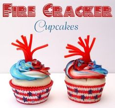 4th of July party cakes--these would be too cute for the cousins!