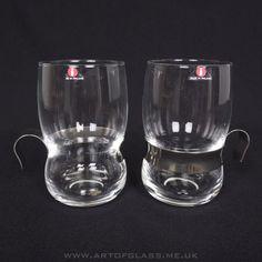 Iittala pair of Paula glass mugs with steel holders scandinavian vintage finnish Art Of Glass, Baby Items, Shot Glass, Scandinavian, Etsy Seller, Steel, Mugs, Kitchen Stuff, Tableware