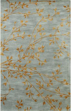 Bashian Greenwich Spring Bursts Light Blue Rug | Contemporary Rugs #RugsUSA