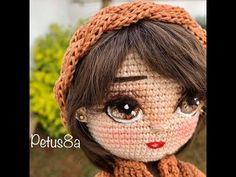 DIY Como bordar ojos a muñecas amigurumis - Patrones gratis Crochet Faces, C2c Crochet, Crochet Doll Pattern, Crochet Art, Crochet Videos, Crochet Patterns Amigurumi, Amigurumi Doll, Crochet Animals, Crochet Dolls