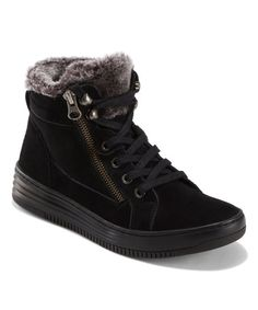 Earth Black Jolt Suede Lace-Up Bootie - Women   Best Price and Reviews   Zulily Sneaker Dress Shoes, Sneaker Boots, Narrow Shoes, Wide Shoes, Earth Shoes, Cold Weather Boots, High Top Sneakers, Footwear, Lace Up