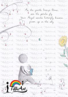 www.tiffsart.co.uk (c) www.facebook.com/TiffsDrawings #babyloss #daddysangel #angel #artist